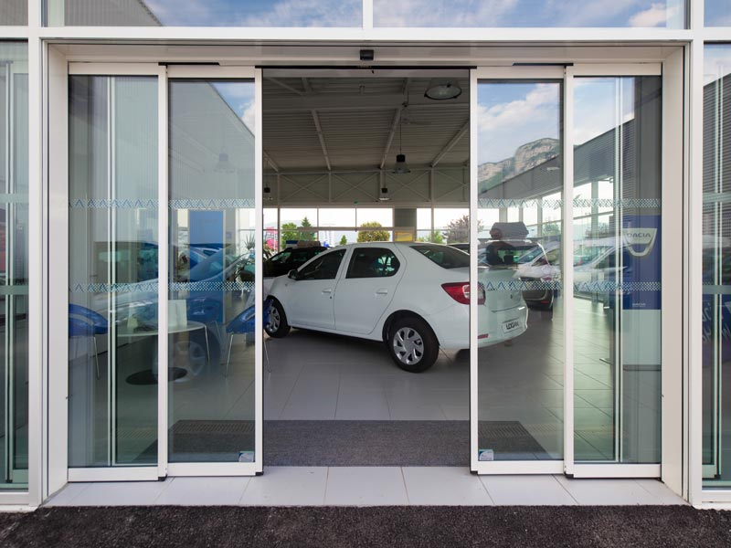 Axed portes automatiques porte t lescopique optimiser largeur de passage - Societe record porte automatique ...